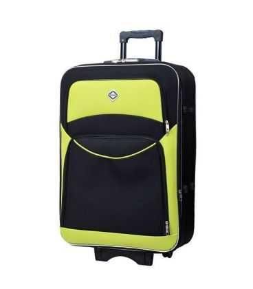 Чемодан Bonro Style Maxi черно-салатовый картинка, изображение