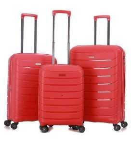 Набор Чемоданов Snowball 91103 3 в 1 красный