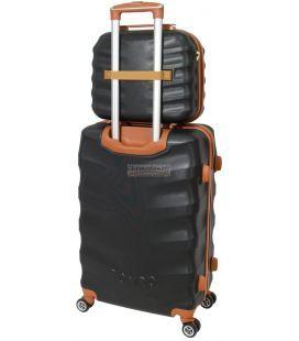 Комплект валіз і кейс Bonro Next маленький чорний