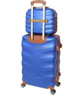 Комплект валіз і кейс Bonro Next маленький синій