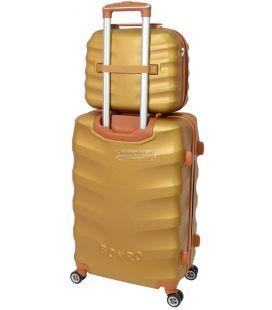 Комплект валіз і кейс Bonro Next маленький золотий