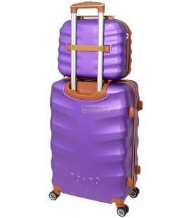 Комплект валіз і кейс Bonro Next маленький фіолетовий