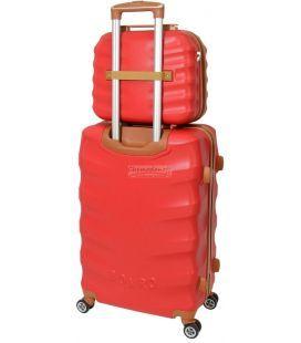 Комплект чемодан и кейс Bonro Next маленький бордовый
