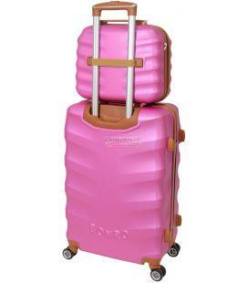 Комплект чемодан и кейс Bonro Next маленький розовый