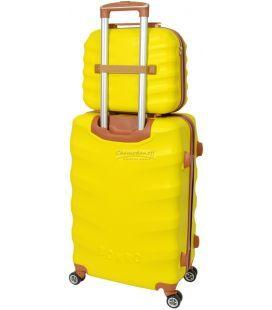 Комплект валіз і кейс Bonro Next маленький жовтий