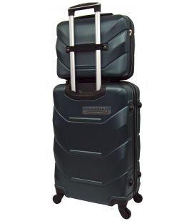 Комплект валіз і кейс Bonro 2019 маленький смарагдовий