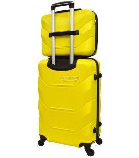 Комплект валіз і кейс Bonro 2019 маленький жовтий