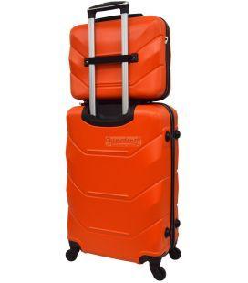 Комплект валіз і кейс Bonro 2019 маленький помаранчевий