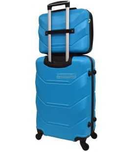 Комплект валіз і кейс Bonro 2019 маленький голубий
