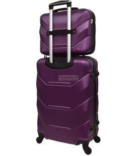 Комплект валіз і кейс Bonro 2019 маленький бузковий