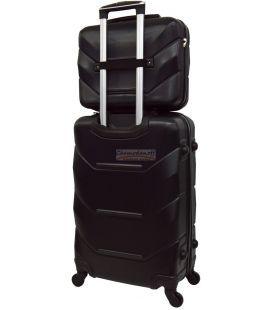Комплект валіз і кейс Bonro 2019 маленький чорний