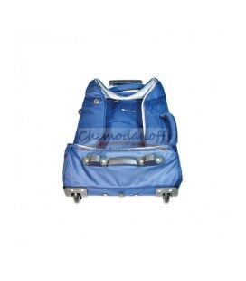 Дорожная сумка-чемодан на колесах Airtex 525 Mini синяя