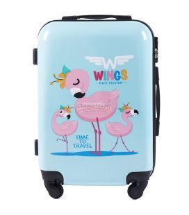 Чемодан Wings Kids Mini Фламинго