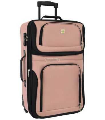 Чемодан Bonro Best Midi черно-розовый картинка, изображение