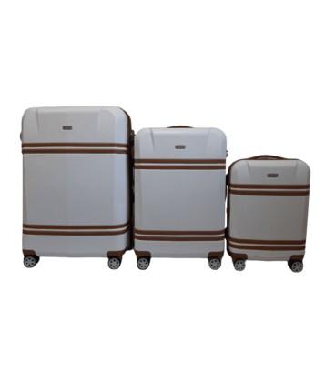 Набор чемоданов Airtex Deimos 949 белый картинка, изображение, фото