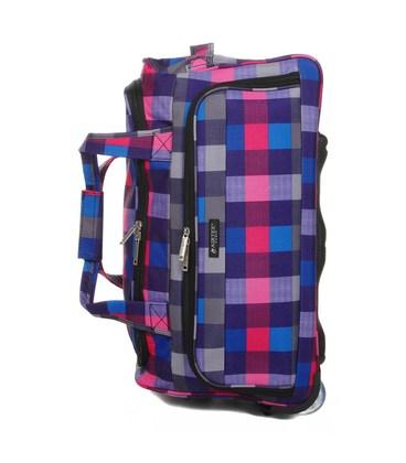 Дорожная сумка на колесах Airtex 824/75 клетчатая картинка, изображение, фото