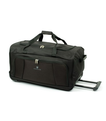 Дорожная сумка на колесах Airtex 897/75 черная картинка, изображение, фото