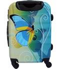 Чемодан Bagia Бабочка желто-голубая Mini картинка, изображение, фото