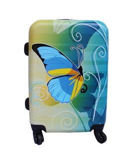 Валіза Bagia Метелик жовто-блакитна Mini