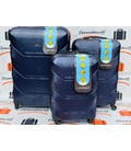 Набор чемоданов Carbon 147 синий картинка, изображение, фото