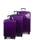 Набор чемоданов Snowball 75203 фиолетовый картинка, изображение, фото