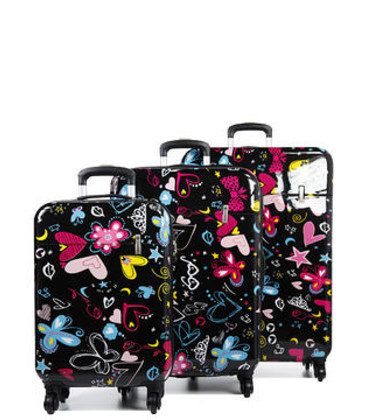 Набор чемоданов Snowball 55203 черный картинка, изображение, фото