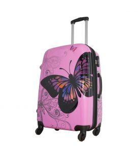 Чемодан Monopol Бабочка розовый 68 литров