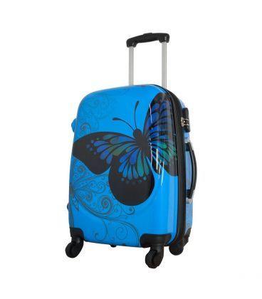 Чемодан Monopol Бабочка голубой Midi картинка, изображение, фото