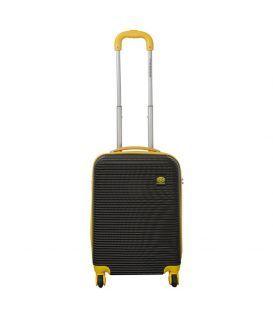 Чемодан Monopol Santorin черно-желтый 35 литров