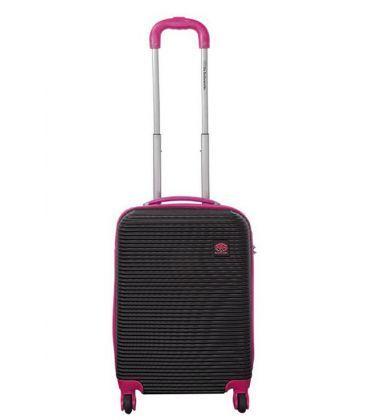 Чемодан Monopol Santorin черно-розовый Mini картинка