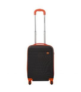 Чемодан Monopol Santorin черно-оранжевый 35 литров