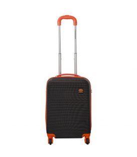 Чемодан Monopol Santorin черно-оранжевый Mini