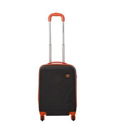 Чемодан Monopol Santorin черно-оранжевый Mini картинка