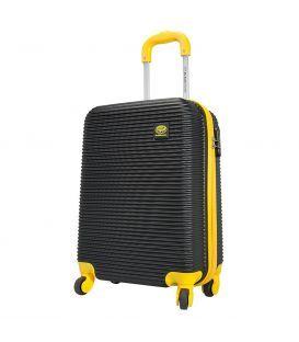Чемодан Monopol Santorin черно-желтый 70 литров