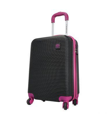 Валіза Monopol Santorin чорно-фіолетова Midi картинка