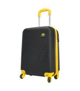 Чемодан Monopol Santorin черно-желтый 115 литров