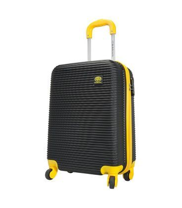 Чемодан Monopol Santorin черно-желтый Maxi картинка