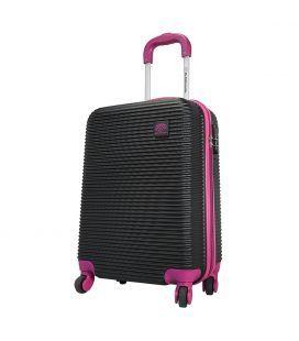 Чемодан Monopol Santorin черно-фиолетовый 115 литров
