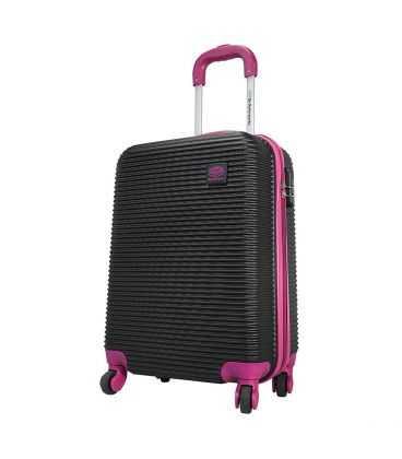 Чемодан Monopol Santorin черно-фиолетовый Maxi картинка