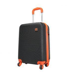 Чемодан Monopol Santorin черно-оранжевый 115 литров