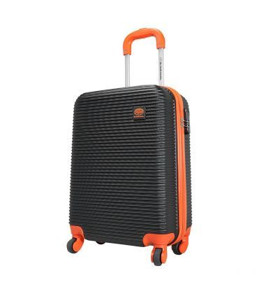 Чемодан Monopol Santorin черно-оранжевый Maxi картинка