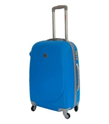 Чемодан Bonro Smile Midi голубой картинка, изображение, фото