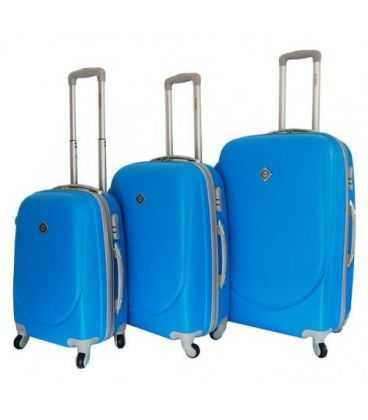 Набор Чемоданов Bonro Smile голубой картинка, изображение, фото