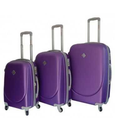 Набор Чемоданов Bonro Smile фиолетовый картинка, изображение