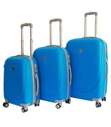 Набор Чемоданов Bonro Smile Double Wheels голубой картинка