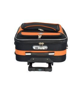Чемодан Bonro Style Mini черно-оранжевый картинка, изображение