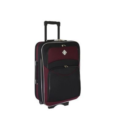 Валіза Bonro Style Mini чорно-вишнева картинка, зображення, фото