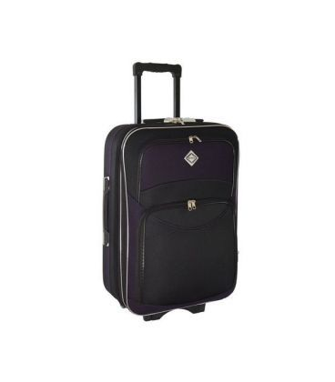 Валіза Bonro Style Mini чорно-т.фіолетова картинка, зображення
