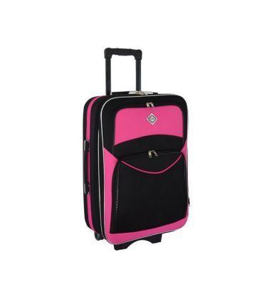 Валіза Bonro Style Mini чорно-рожева картинка, зображення, фото