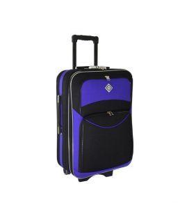 Чемодан Bonro Style Midi черно-фиолетовый